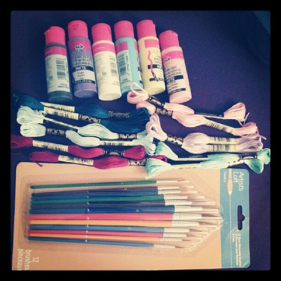 My Michael's lewtz. Mats for painting my shoes and some floss for bracelets :) Michaels DIY Crafts Painting