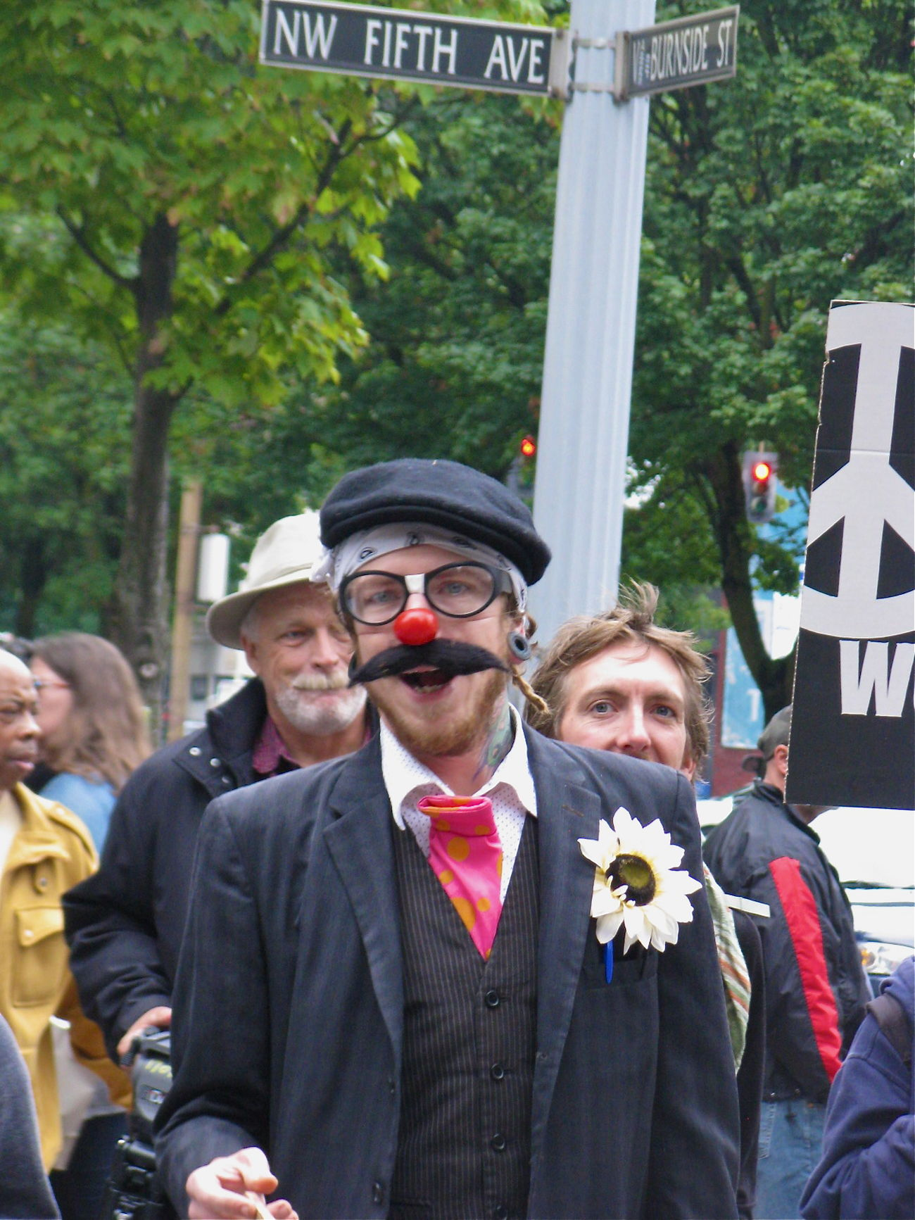 Occupy Portland, September 6, 2011 #OccupyPortland #portland Day Occupy Portland Portrait Protest Protesters Up Close Street Photography The Street Photographer - 2016 EyeEm Awards People And Places People Together Clown Enjoy The New Normal Uniqueness Resist The Street Photographer The Street Photographer - 2017 EyeEm Awards