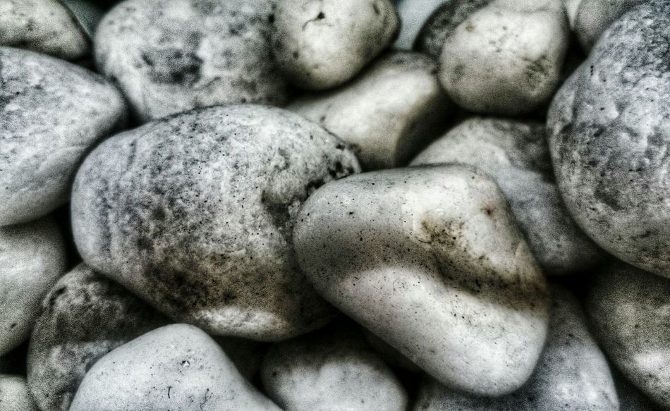 Pebbles Close-up in Detail , with Dirt but Smooth . Needs Cleaning . Stones Monochrome Point Of View XPERIA Smartphone Photography Fine Art Photography Composition Compositions
