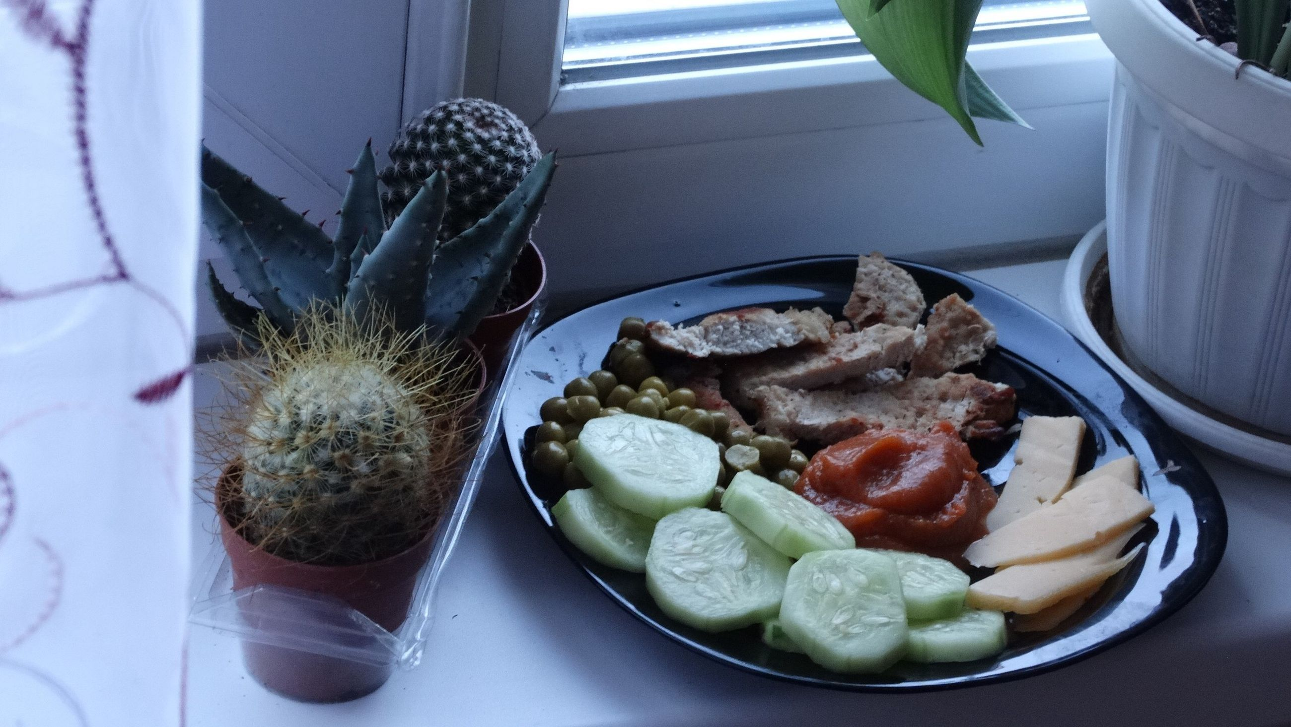 food and drink, food, freshness, indoors, healthy eating, table, ready-to-eat, plate, still life, serving size, meal, high angle view, bowl, close-up, served, meat, vegetable, salad, seafood, no people
