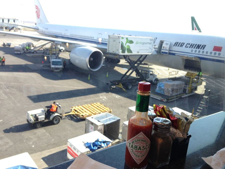Before the long flight Airchina Airplane Airport Airport Departure Area Airport Runway Airport Terminal Airport Waiting Airportphotography Asphalt EyeEmNewHere High Angle View Passenger Boarding Bridge Salt And Pepper Tabasco Transportation Air China