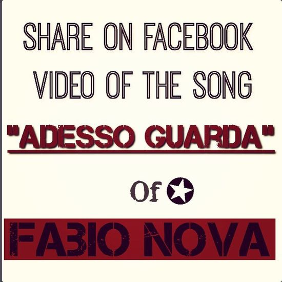 "Share on Facebook Video of the SONG ""Adesso guarda"" of Fabio Nova Hi! Instagood FabioNova Music Love Rock Taking Photos Check This Out Hello World Share"