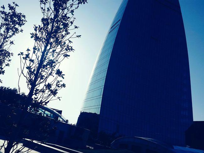 Sky Day Outdoors Nadir Azerbaijan Baku AlovQüllələri Flametowers Bakı Architecture Building Exterior Glassbuilding