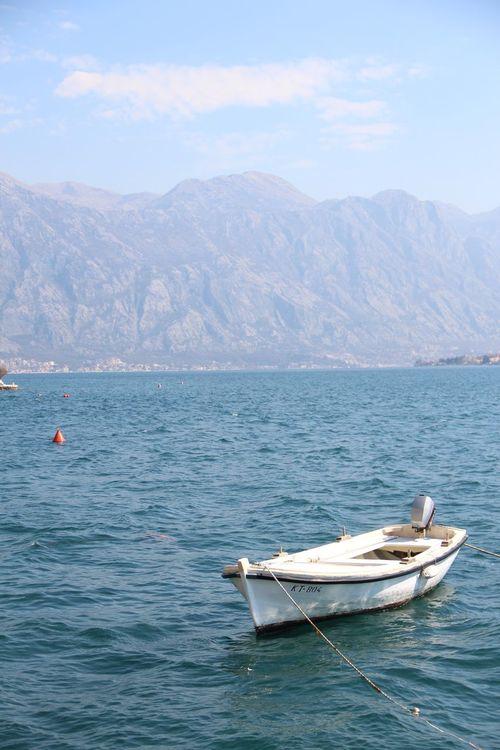 PERAST Bay Of Kotor Montenegro Balkans Seaside Boat Mountains Boat With Mountains Europe