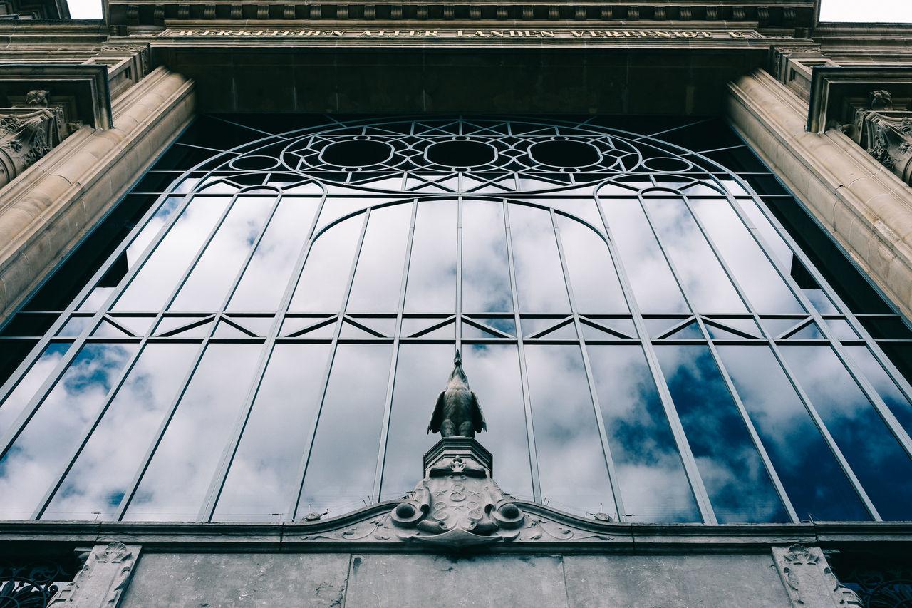 Art Nouveau in Gent Gent Ghent Reflection Architecture Art Nouveau Building Exterior Day Low Angle View Refelections Sculpture Statue Symmetry Window
