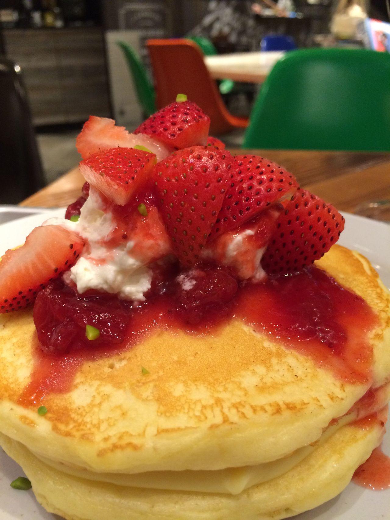 Strawberry Custard Pancakes Enoshima