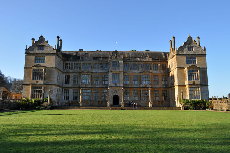 Architecture Brick Built Building Exterior Built Structure Clear Sky Day Elizabethan Façade Grass Montacute House Outdoors Somerset England Stately Home Travel Destinations