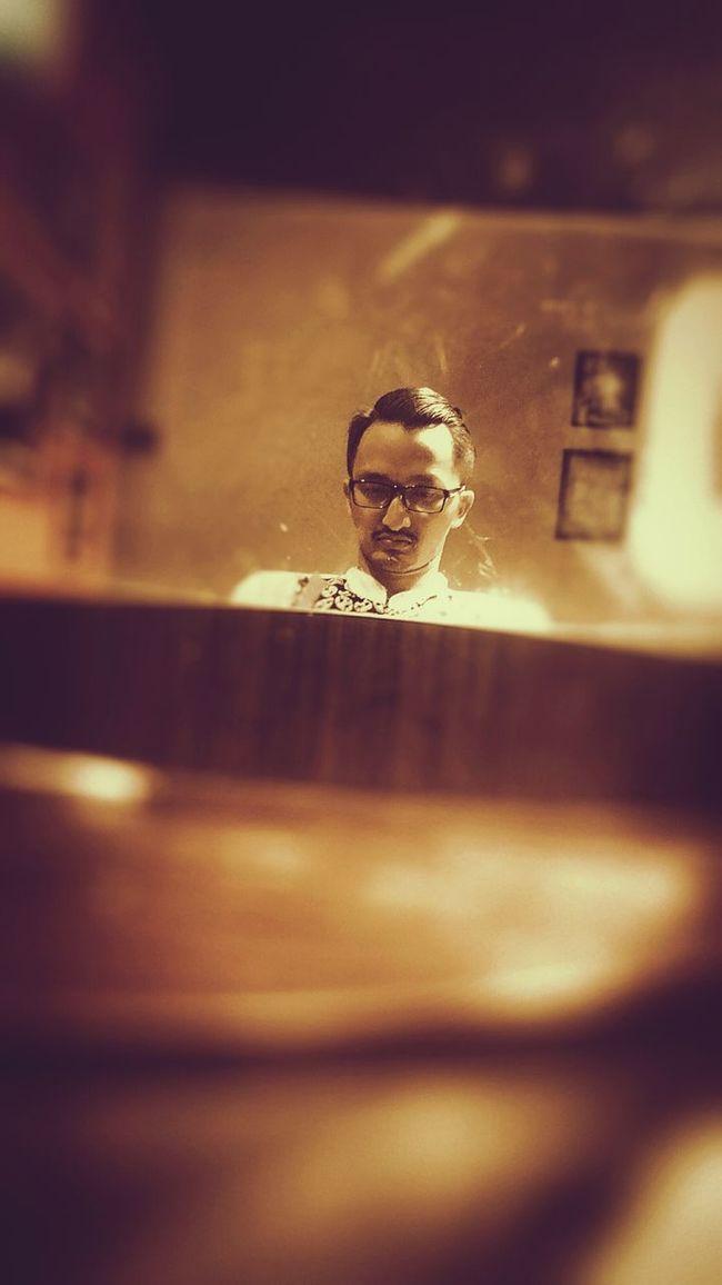 No hand selfie ;) Barbershop Jakarta INDONESIA Don Slicks Neat Hairstyle Manfashionstyle