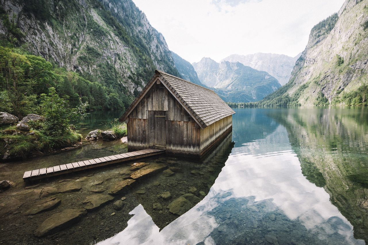 Boathouse Earth Forest Bavaria Alps Mountain Dawn Mountain Range Photography Travel Destinations Exploring Landscape VSCO Leisure Activity Vscocam Explore Rural Nature Summer EyeEm Best Shots Travel Germany Outdoors Traveling