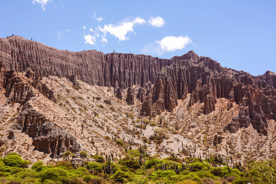 Badlands of mountain in Jujuy's province (Argentina) Altiplano America Andes Argentina Badlands Beauty In Nature Cactus Calanchi Desert Geology Gullies Jujuy Landscape No People Outdoors Province Quebrada Rock - Object Rock Face Salta  Scenics Tilcara Valley