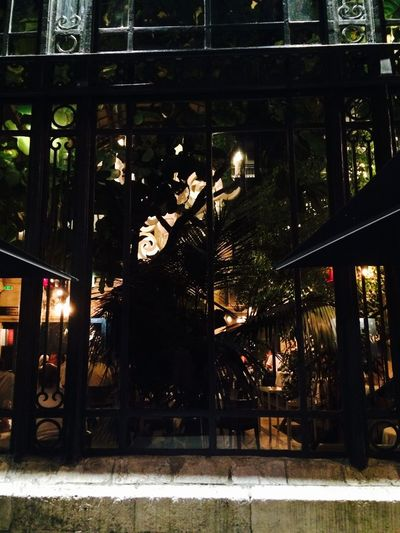 Les 4 Sergents Night Illuminated Vibrant Color Restaurant Full Length Outdoors Person City Life