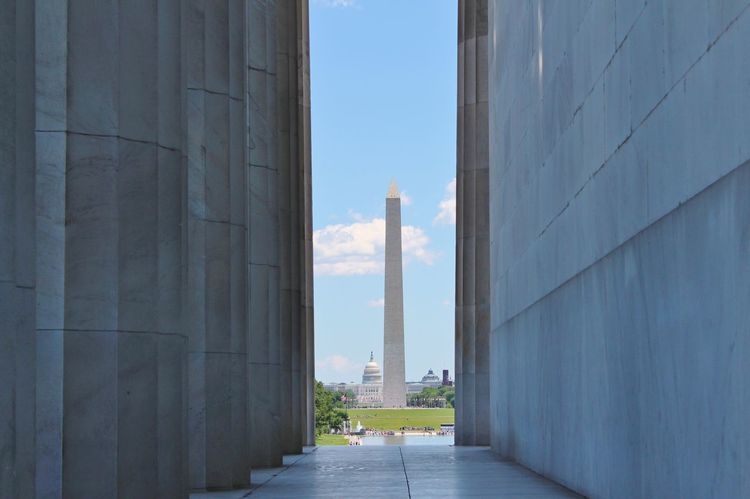 Architecture Built Structure Day History Lincoln Memorial No People Sky The Way Forward Tourism Travel Destinations US Capitol Building USA Washington Monument Washington, D. C. The Architect - 2017 EyeEm Awards Be. Ready.
