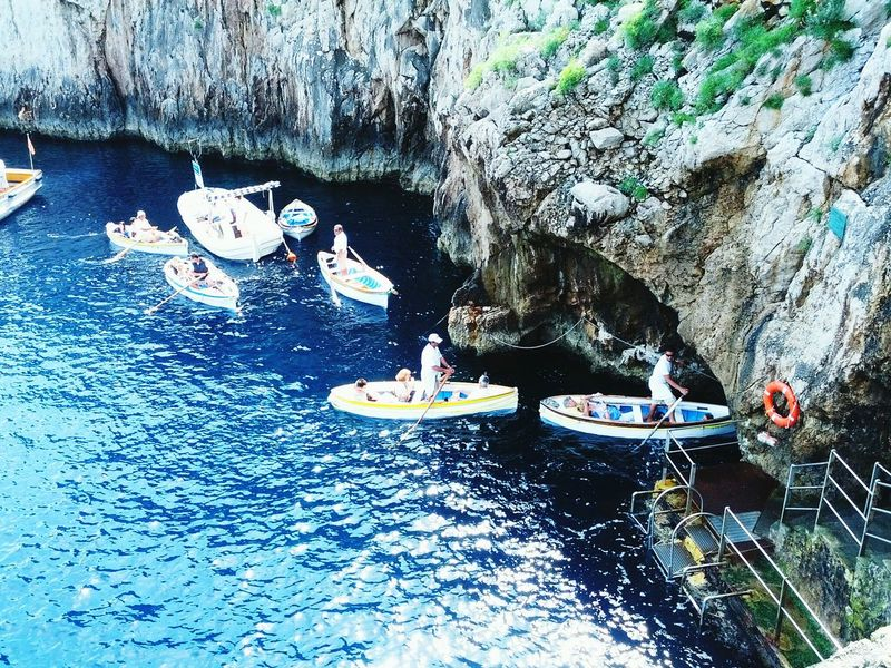 The Great Outdoors With Adobe Capri, Italy Blue Grotto Ocean Sea Cave Boat