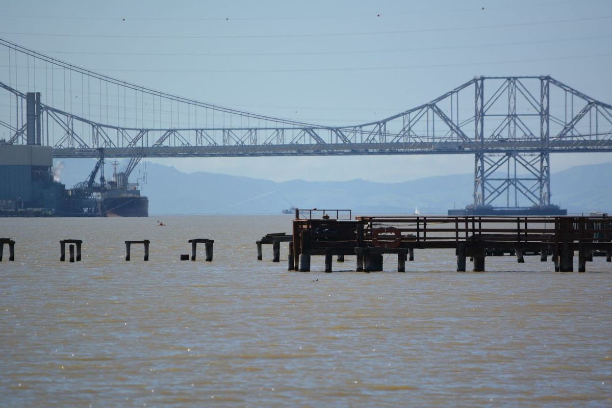 These photos were taken in Benicia, California on a breezy, cool, bright day that made the water sparkle in April 2016. Much needed rain turned the hills into luscious shades of green again. Looking west, the bridge runs east-west from Crockett to Vallejo on the north. It is called the Carquinez Bridge, named after the strait that runs east from the interior rivers that feed into the Pacific Ocean via the San Francisco bay (and its northern neighbor, San Pablo). Bay Area Life Beauty In Nature Benicia California Carquinez Strait Nature Northern California Ocean Outdoors Pacific Ocean Sand And Sea