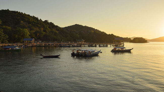 Kedah Malaysia Holiday Trip Langkawi Island Malaysia Sunset Silhouettes Boats⛵️ Tourism Journey Tourist Destination Lanscape Photography Sky And Clouds Nacture Outdoors Beach Transportation