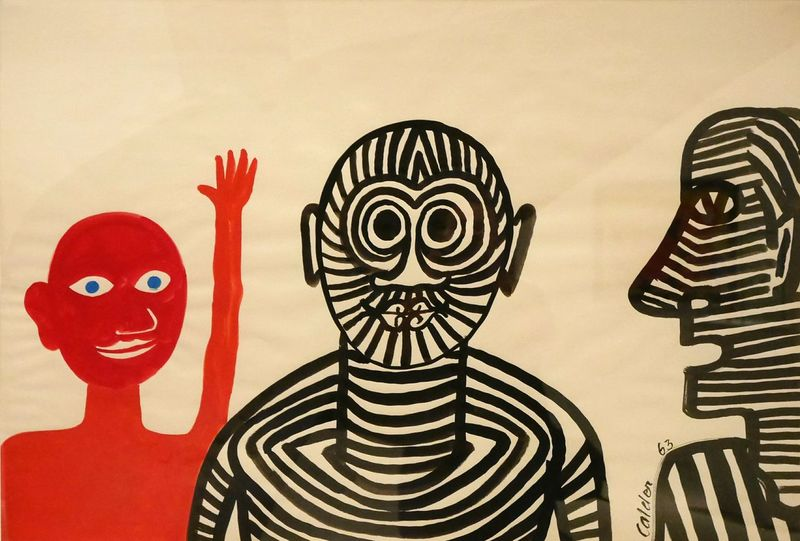 Exposition temporaire Calder au Musee Soulages Rodez - Multi Colored Painting Aveyron Rodez Art Gouache Red Museum Modernart Gouache Painting Human Representation