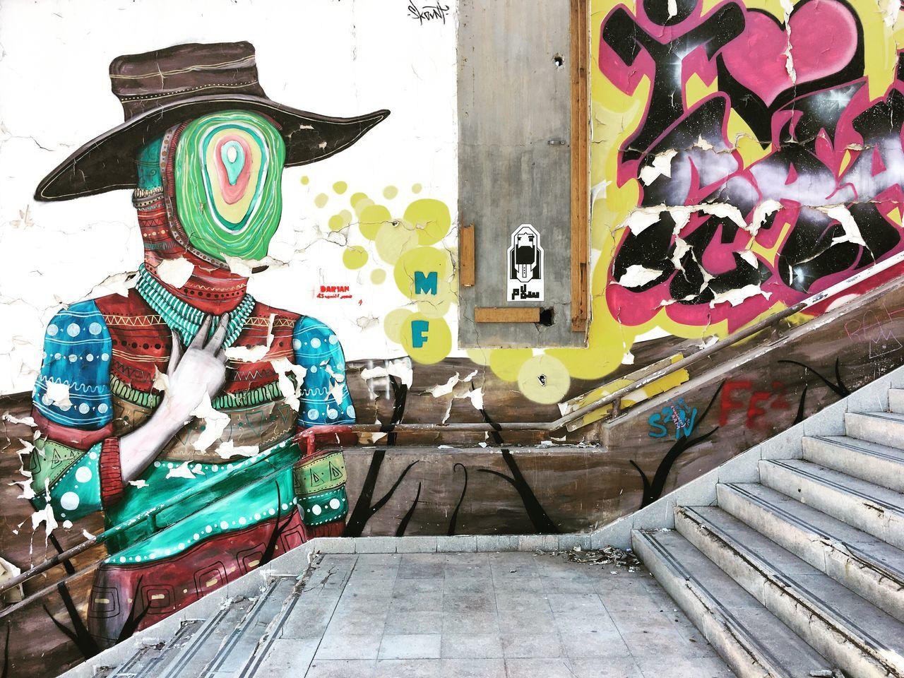 Graffiti Art Multi Colored City Life Graffiti IPhoneography Wall Art