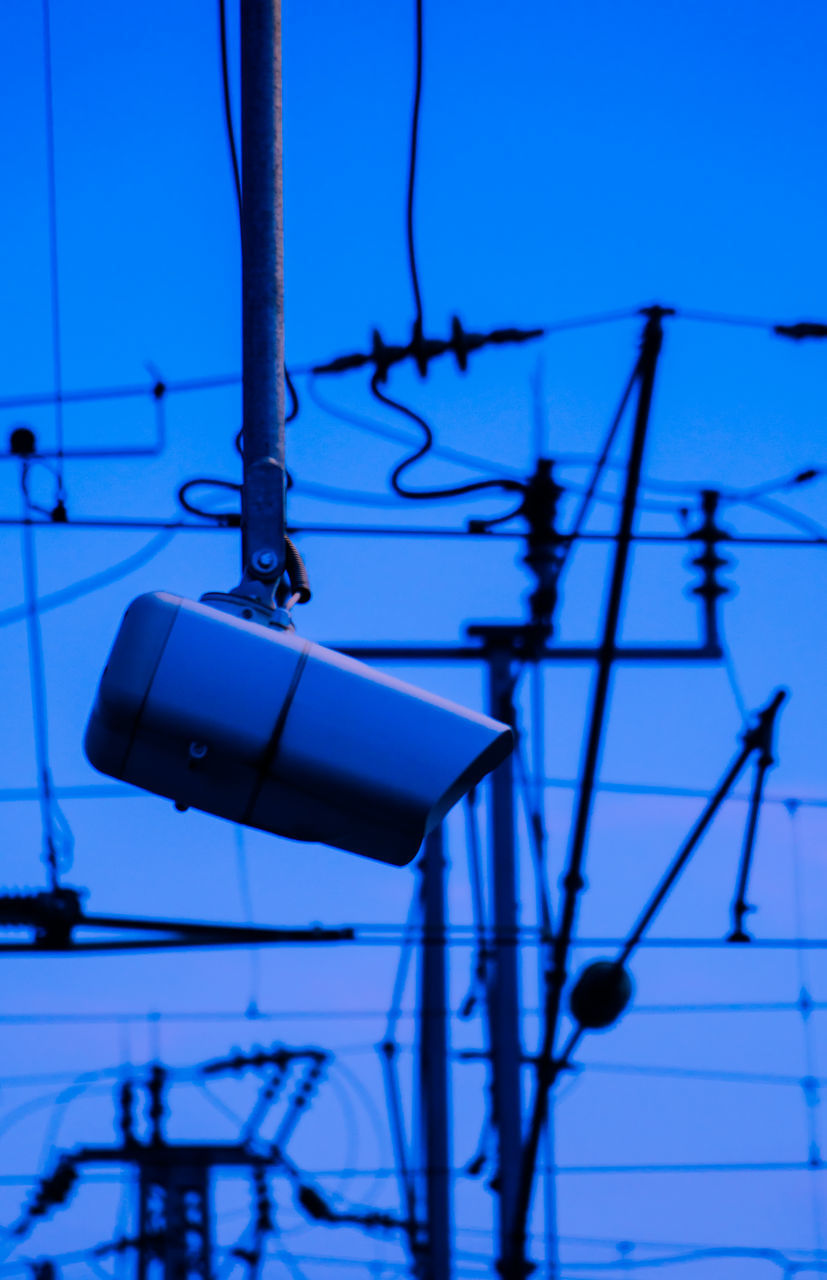 cable, technology, power line, blue, connection, electricity, no people, power supply, close-up, clear sky, outdoors, day, sky