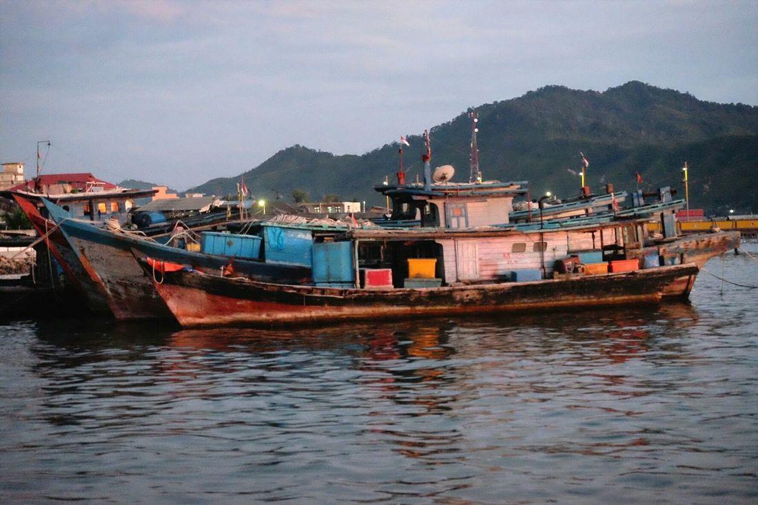 Anchored... Outdoors Transportation Nautical Vessel Boat Small Boat Sea Seashore Traditional Sibolga North Sumatra - Indonesia