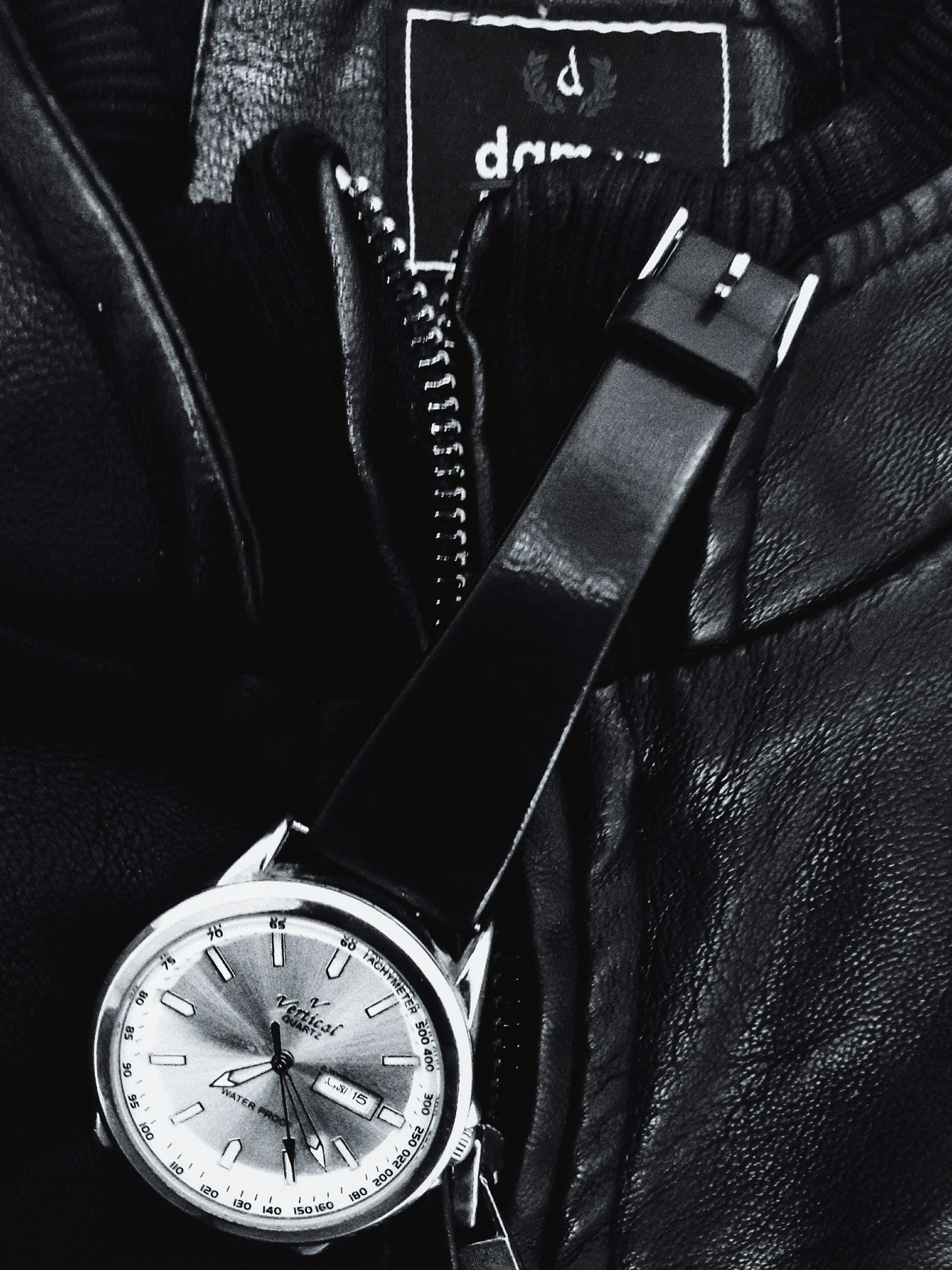 Time Close-up Watch Elegant Photooftheday Leather Apparel Leather Jacket