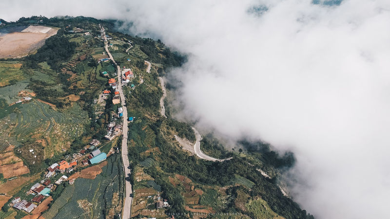 Morning clouds take over the town Aerial Shot Baguio City Green Aerial Aerial Photography Aerial View Beauty In Nature Clouds Day High Angle View Landscape Mountain Mountain Range Mountains Nature Outdoors Real People Scenics Sky Sunrise