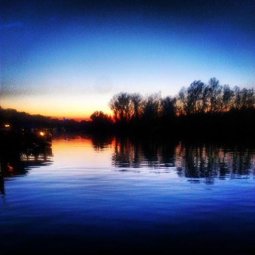 River View Sunset Belgrade Danube
