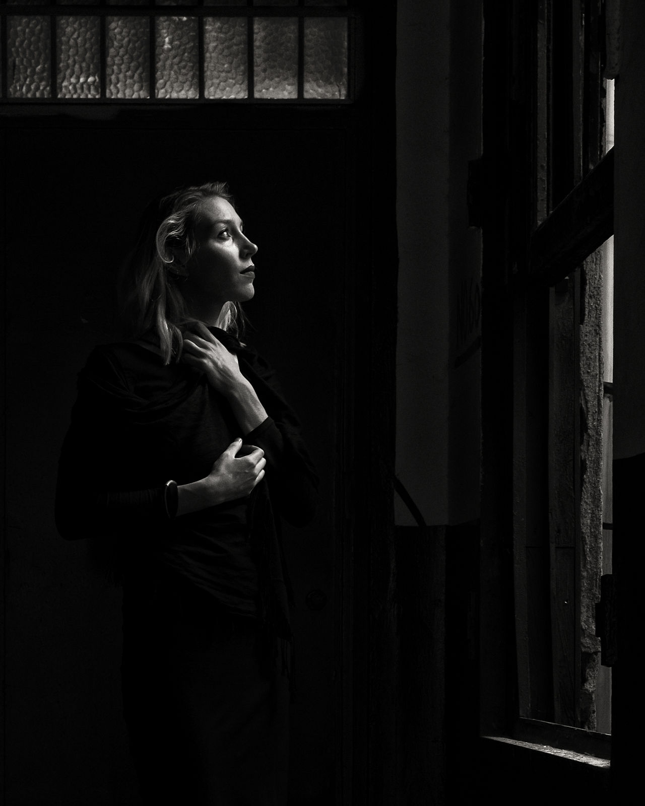 Black & White Black And White Blackandwhite Blackandwhite Photography Contemplation Dark Day Human Hand Indoors  Istanbul Lifestyles Light And Shadow One Person One Woman Only Only Women People Portrait Portrait Of A Woman Real People Women Young Adult