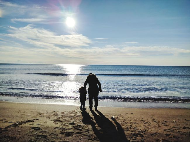 Life! Daughter Mother & Daughter Mother EyeEmNewHere EyeEm Ready   Two People Beach Sea Togetherness Horizon Over Water Bonding Sky Day Sunlight People Water Love EyeEm Ready