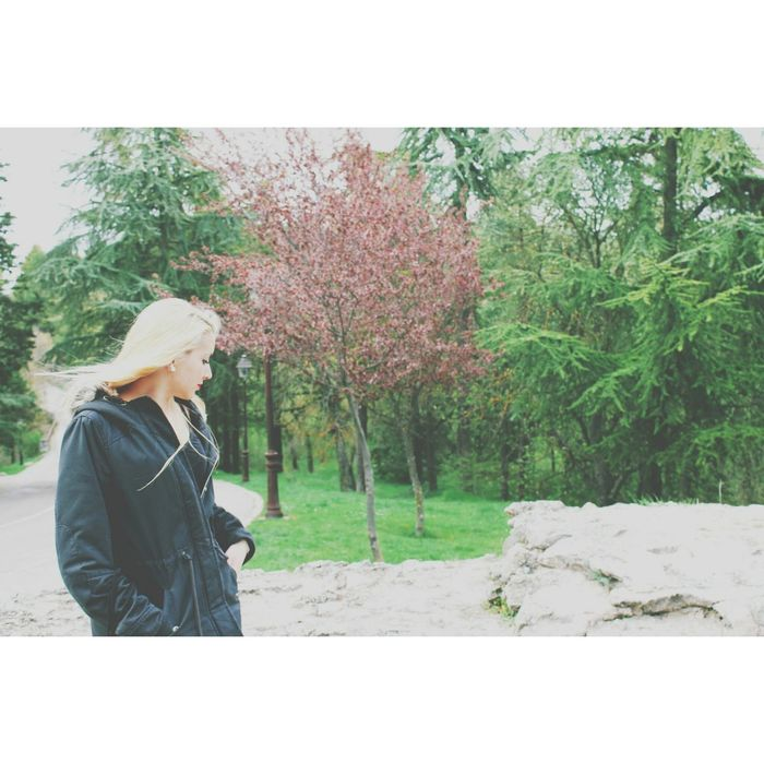 Spring Girl Beautiful Girl Blonde Girl Blonde Hair Flowers Trees And Nature Peace ✌