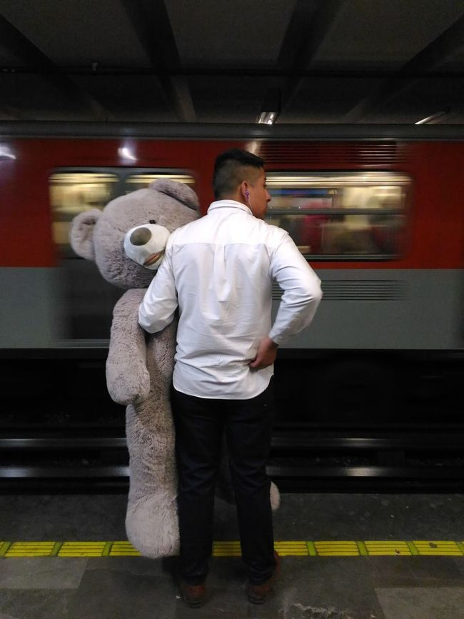 Subway People Metro Station People Photography Teddy Bear Subwayphotography Subway México
