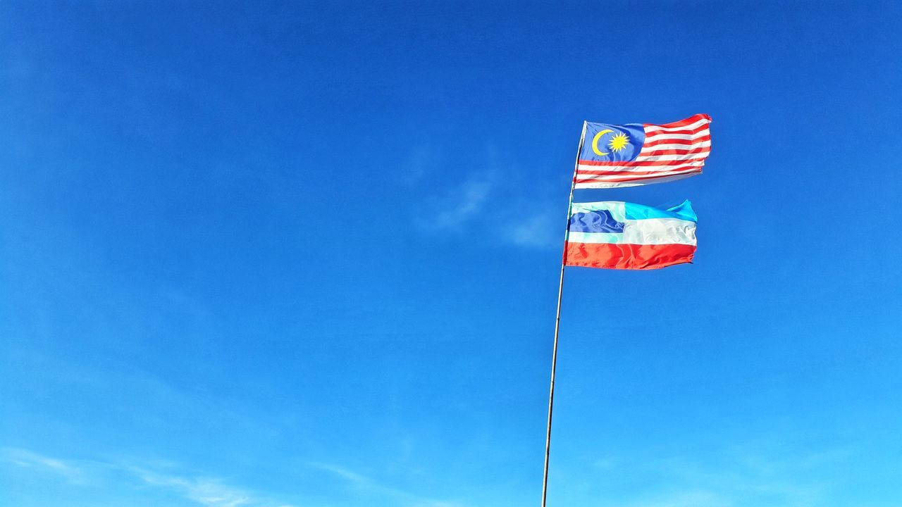 Outdoors Patriotism Low Angle View Adventures Travel Destinations Malaysia Truly Asia Nature Landscape Malaysia Scenics Hikingadventures Hiking Trail Hills, Mountains, Sky, Clouds, Sun, River, Limpid, Blue, Earth Flag Blue Day No People Done That. Sabahan Photography Sabahanstyle Art Is Everywhere Sky