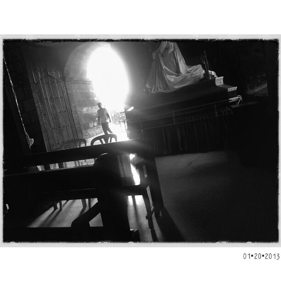 Morong Church | Laguna Loop check-in post | Bw blackandwhite sgs3 samsung galaxyS3 monochrome Philippines