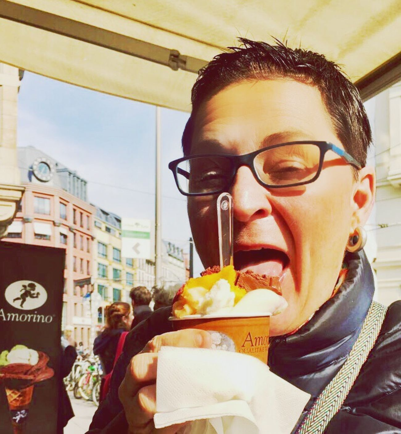 Food Eating Snack Ice Cream Yummy Sunny Spring Berln Love It Its Me Mirror Buliding Architecture Sommergefühle