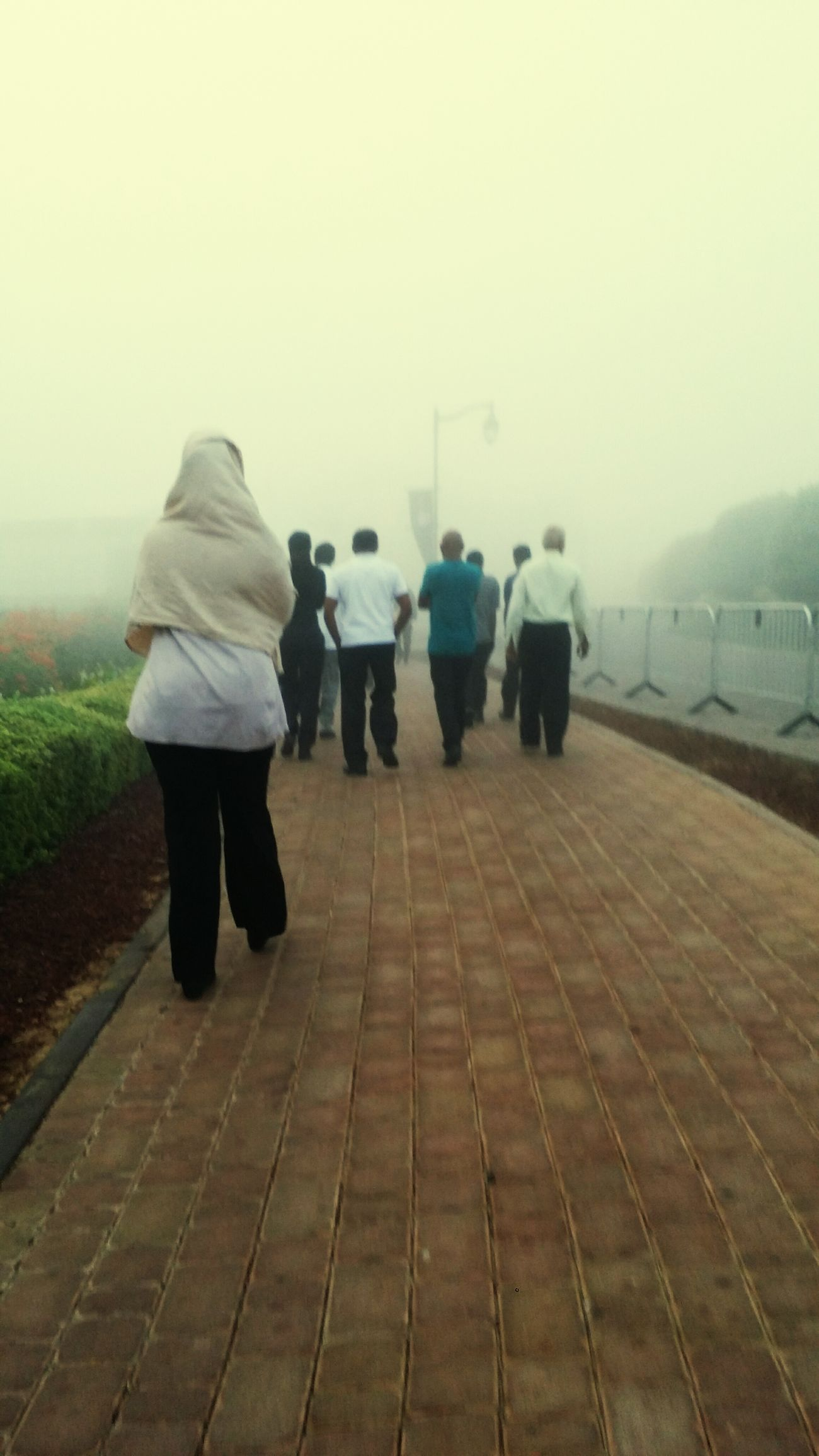 On their way to uncertainty... Outdoors DXB Foggy Morning