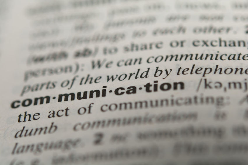 Definition of the word communication, close up Business Communicate Dialogue Discussion Text Word Backgrounds Broadcasting Chatting Communication Comprehension Connection Contact Conversation Correspondence Definition Expression Information Meaning Message Paper Public Relations Selective Focus Speach Understanding