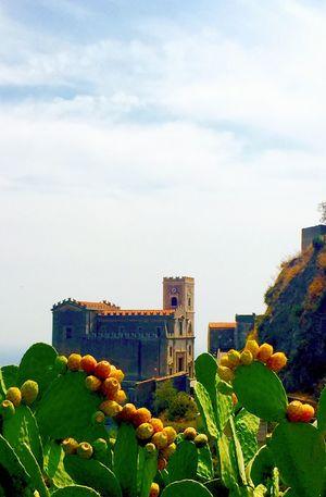 Sicily Sicilia Italia Italy Fichi D'india Fichidindia Cactus Savoca Church Il Padrino Blue Sky Green Live For The Story