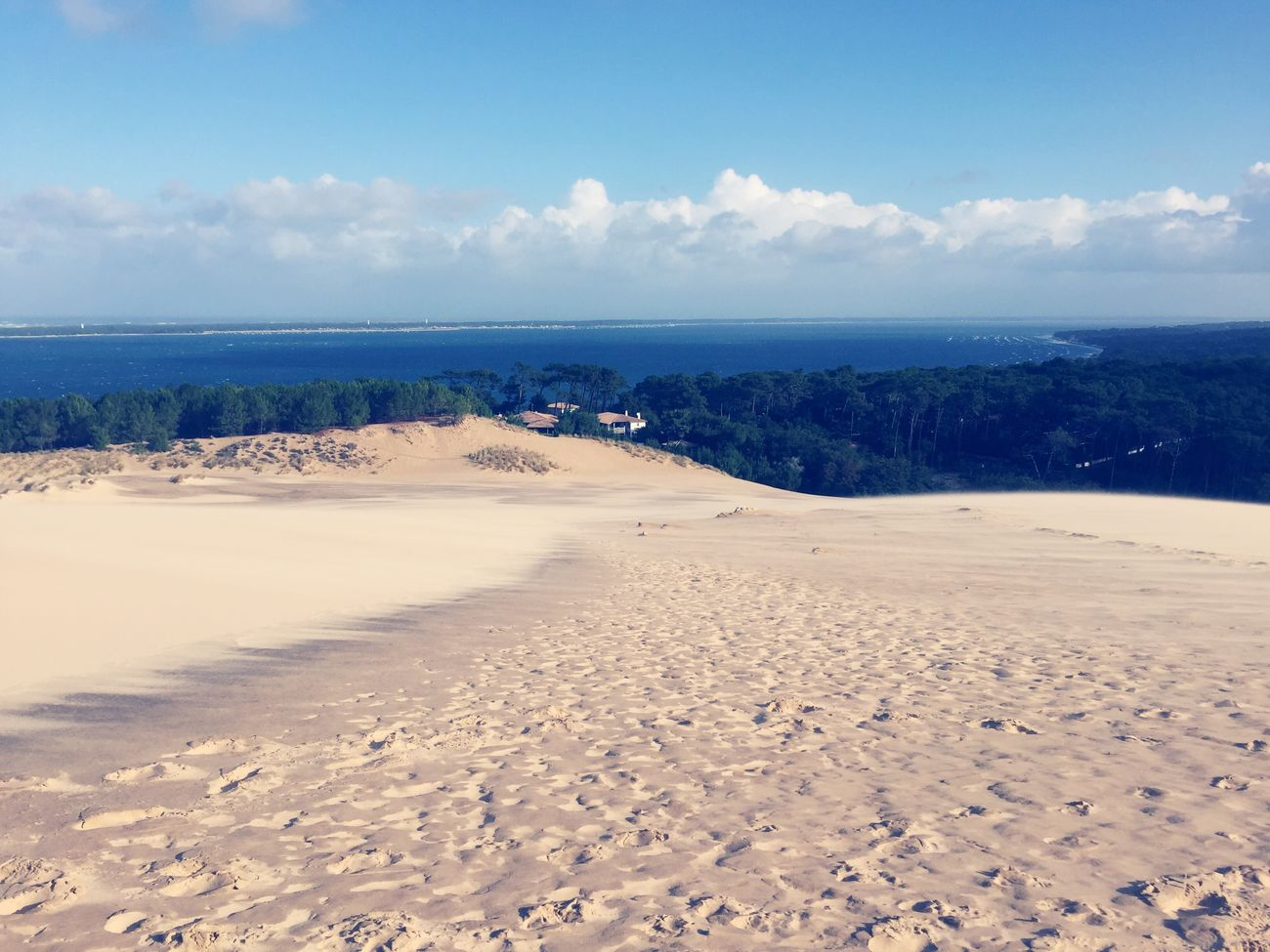 Sea Horizon Over Water Sand Nature Sky Beauty In Nature Water No People Day Coastline Holidays Dune Du Pyla