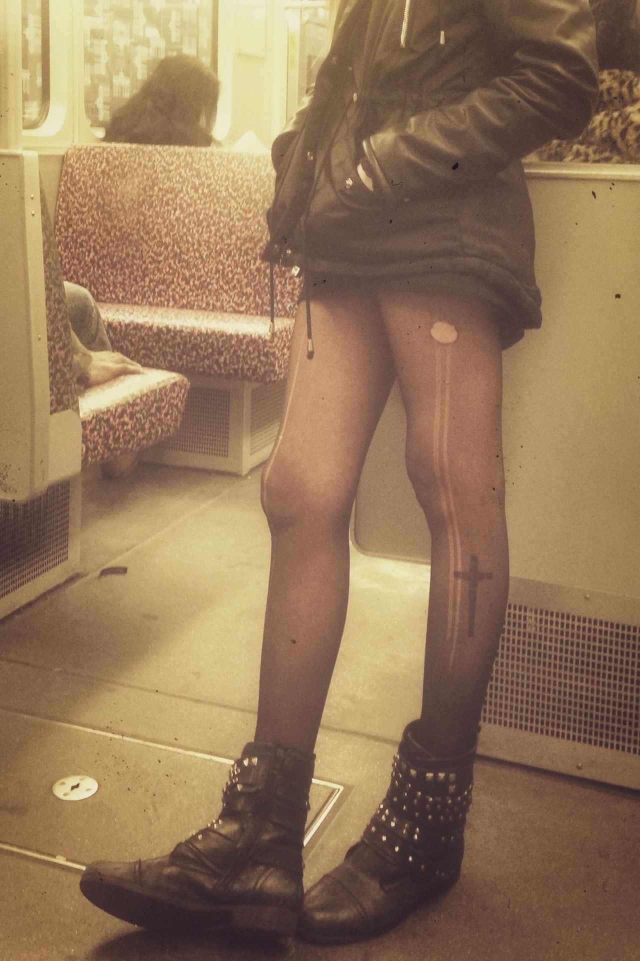 Legs on the train Ubahn Train My Daily Commute