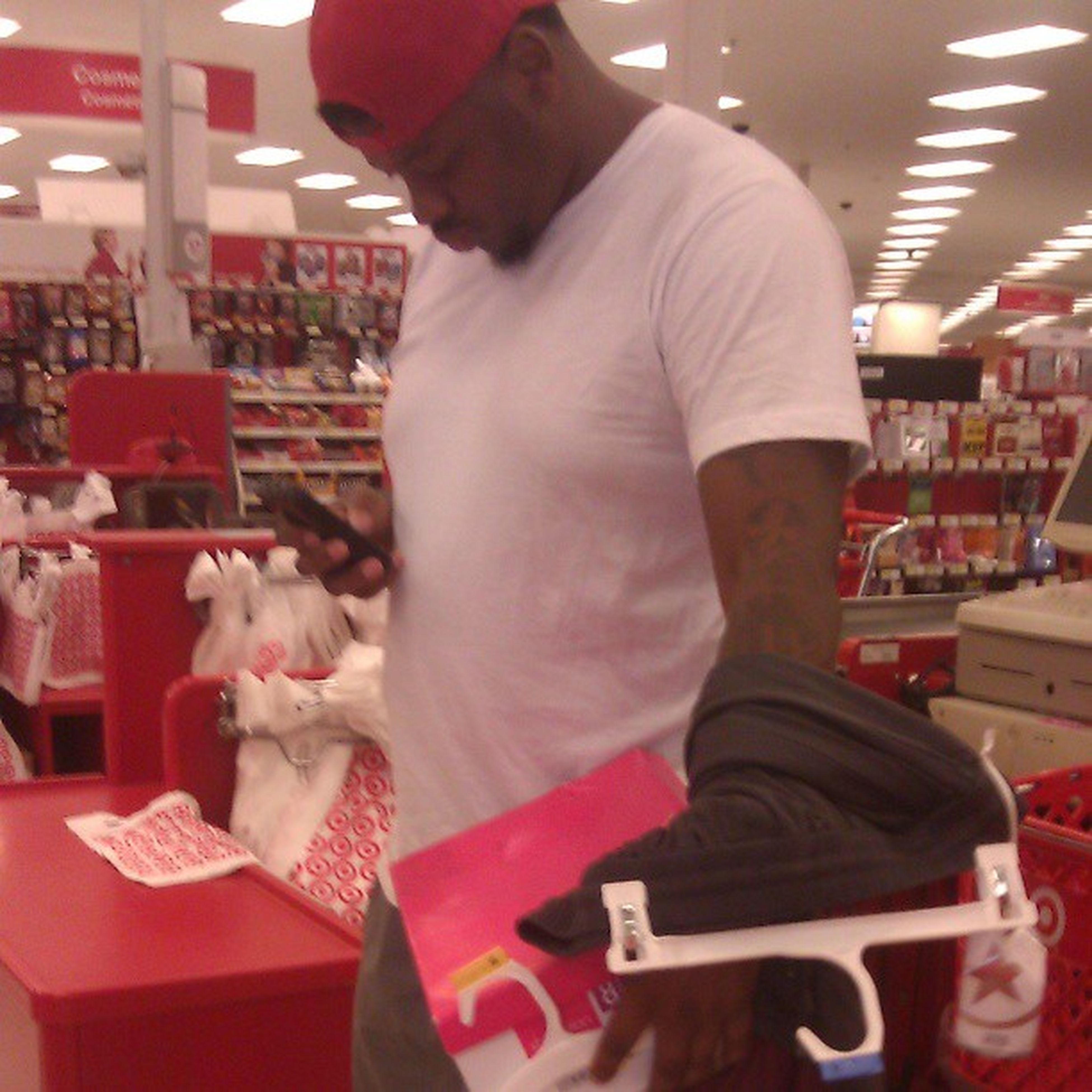 In target suppose to b getting makayla stuff but of course he got me a few things Makaylasdad Wegoodfriends Thtshowitsupposetob