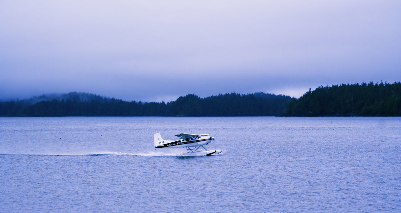 Seaplane ready for Take Off - Tofino, Vancouver Island, British Columbia, Canada Adventure Air Vehicle Aircraft Airplane Cessna Coastline Exploring Floatplane Hydroplane Outdoors Plane Private Airplane Propeller Propeller Airplane Sea Seaplane Small Take Off Taking Off Tourism Transportation Travel Wake Water Waterplane
