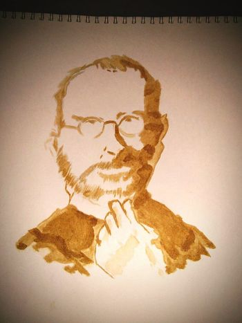 Stevejobs My Drawings Just Drawing Painting Withcoffee Coffee ☕ Art Artphoto Artphotography Myhobby
