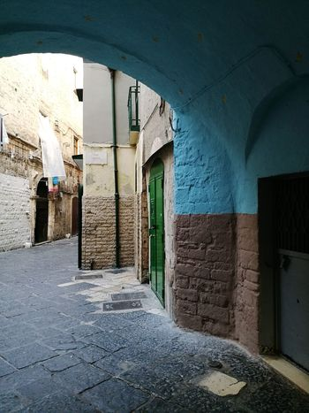 Architecture Built Structure No People Day Letstravel Italia Italy Enjoying Life Outdoors Enjoy Colors Greendoor Bluewall Passing By Illbeback