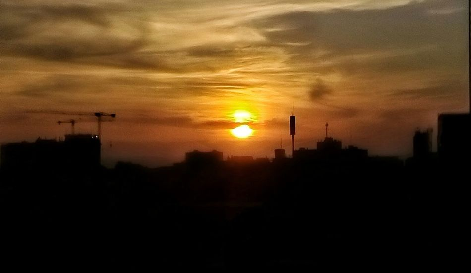 Iquique Chile  Sunset Silhouette Sun Building Exterior City Architecture Built Structure Orange Color Sky Building Scenics Cloud - Sky Nature Outdoors Beauty In Nature Tall - High Development Tranquility No People City Life
