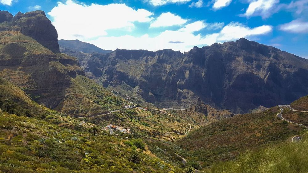 Mountain Landscape Nature Tranquility Tranquil Scene Scenics Day Beauty In Nature Mountain Range Outdoors Sky No People Cloud - Sky Masca Tenerife SPAIN Beauty In Nature Nature