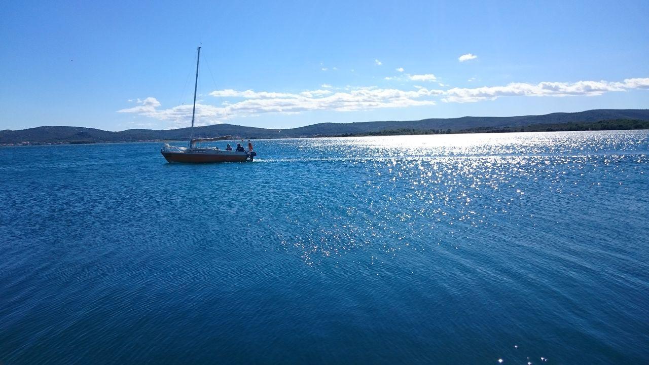 Water Sea Adriatic Sea Bright Sun Windy Water Nature Blue