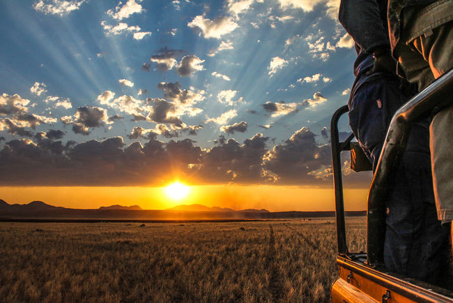 Cloud Cloudy Fire Kanaan Namibia Orange Color Outdoors Sky Sunset Vacations Veldbrand Veldbrandt Bushfire Sunbeam Sun Rays