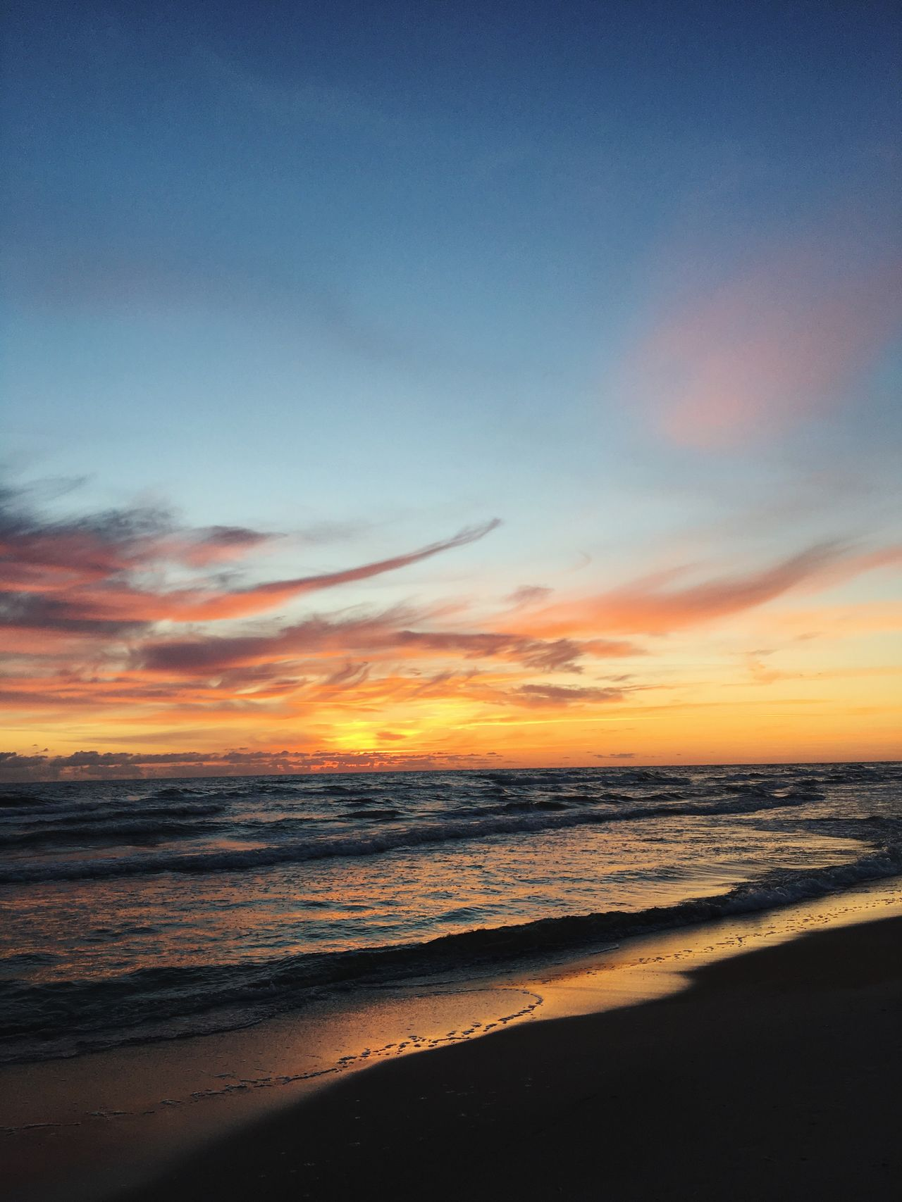 Sea Sunset Beach Scenics Beauty In Nature Nature Horizon Over Water Water Wave Sky No People Outdoors Day Cloud - Sky Sand Landscape Travel Destinations