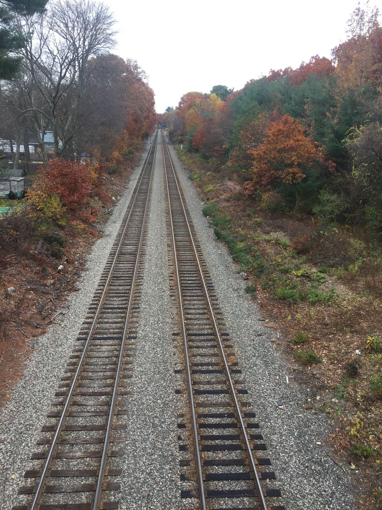 Railroad Railroad Tie Railroad Track Straight The Way Forward