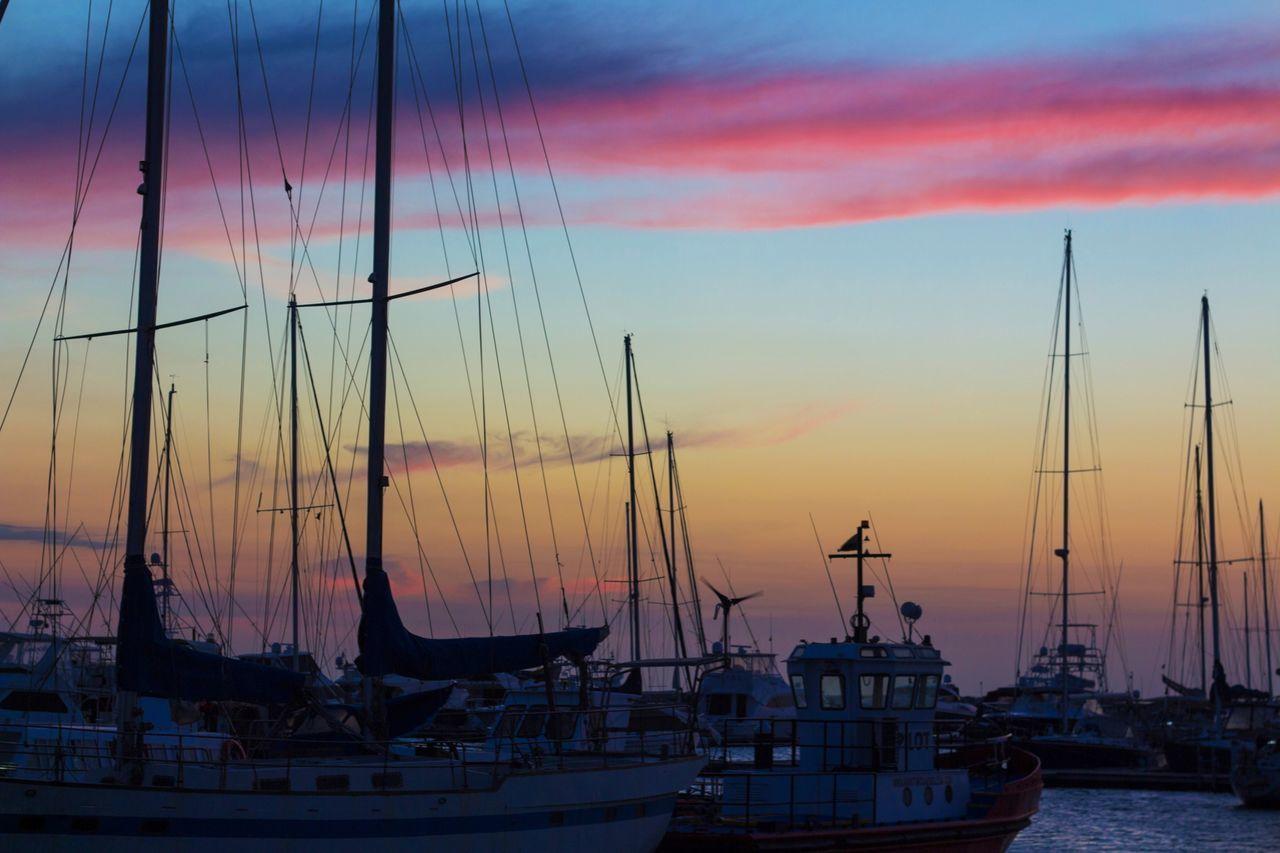 Sunset Sky Transportation Nautical Vessel Outdoors No People Cloud - Sky Mast Nature Beauty In Nature Day Water Snapseed EyeEm Gallery Eyeemphotography Folllw4folllw EyeEm EyeEmNewHere