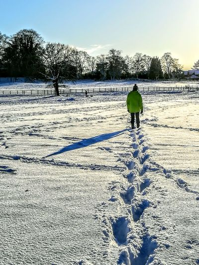 EyeEmNewHere Snow Shadow Snowy Scene Walking Shadows Snow Tracks One Person Full Length One Man Only Day People Only Men Healthy Lifestyle Outdoors Nature